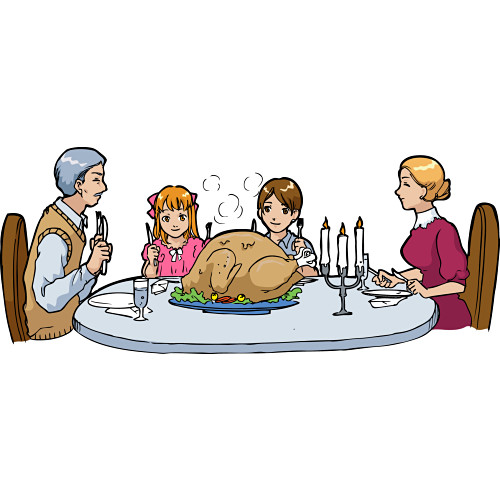 free clipart family meal - photo #16