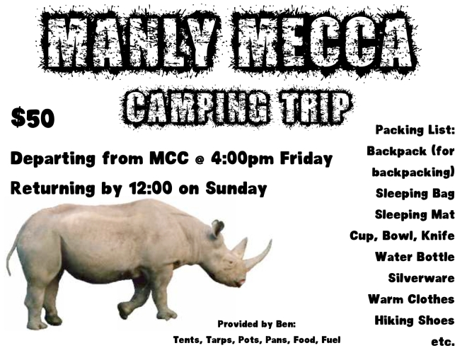 manly mecca camping trip