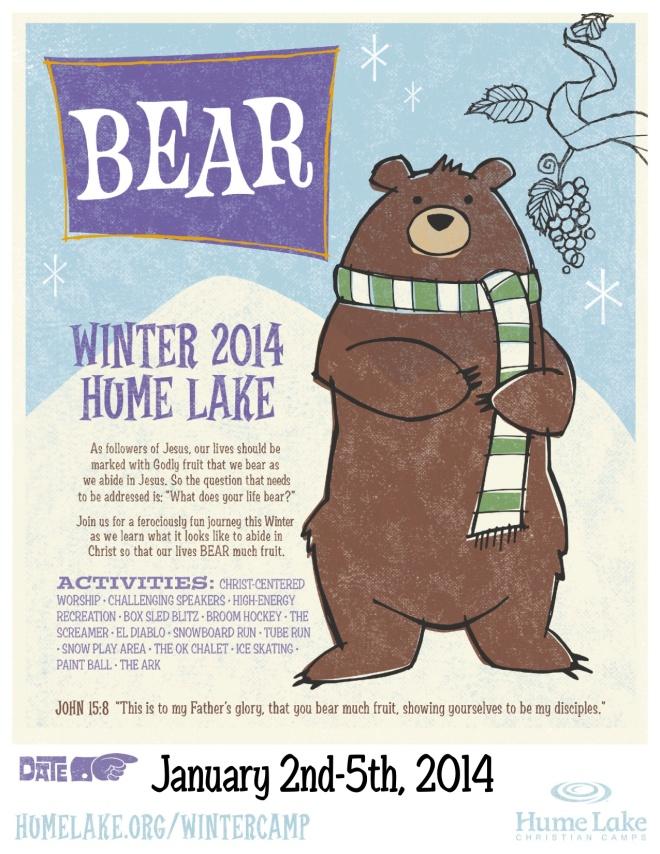 winter camp flier