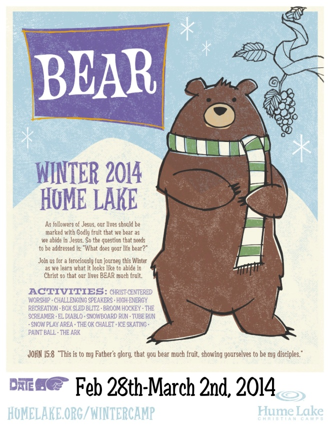 winter camp flier